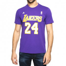 Tee Shirt L.A Lakers Violet Basketball Homme