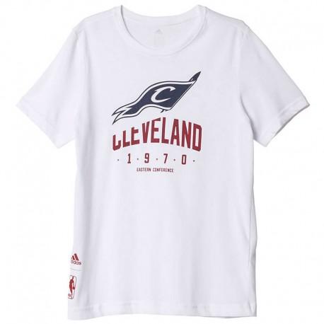 Tee-shirt Cleveland Cavaliers Basketball Blanc Garçon Adidas