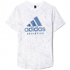 Tee Shirt Printed Blanc Garçon Adidas