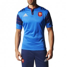 Maillot réplica Rugby XV de France Bleu Homme Adidas