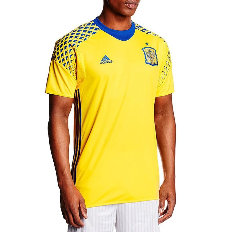 Maillot Gardien Espagne 2016-2017 Jaune Football Homme Adidas 00b77382b2f