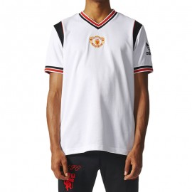 Tee Shirt Manchester United 85 Blanc Football Homme Adidas