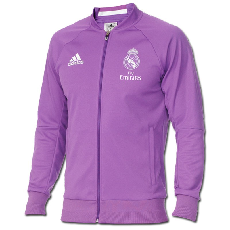 veste real madrid violet football homme adidas. Black Bedroom Furniture Sets. Home Design Ideas