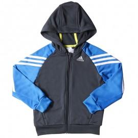 Sweat zippé Gris Garçon Adidas