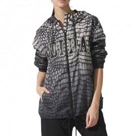 Veste Coupe/vent NY Printed Noir Femme Adidas