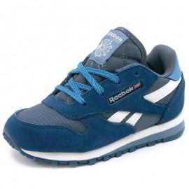Chaussures Classic Leather Bleu Garçon Reebok