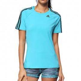 Tee shirt Entrainement Vert Femme Adidas