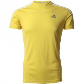 Tee shirt Response Running Jaune Homme Adidas