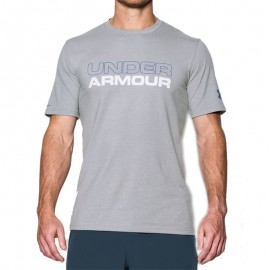 Tee shirt Wordmark Gris Homme Under  Armour
