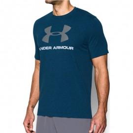Tee shirt Spotstyle Logo Bleu Homme Under  Armour