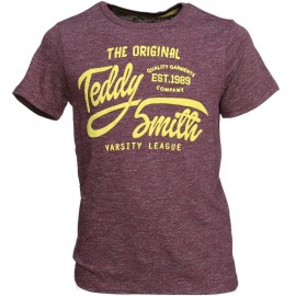 Tee shirt Tavery Bordeaux Garçon Teddy Smith