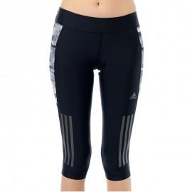 Collant 3/4 Supernova Noir Running Femme Adidas