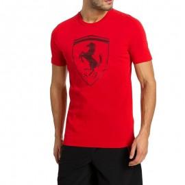 Tee-shirt Ferrari Big Shield Rouge Homme Puma
