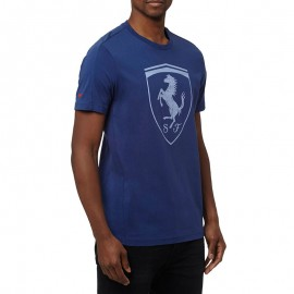 Tee-shirt Ferrari Big Shield Bleu Homme Puma