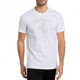 Tee-shirt Ferrari Big Shield Blanc Homme Puma