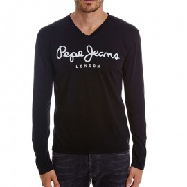 Tee-shirt Original Strech Long Noir Homme Pépé Jeans