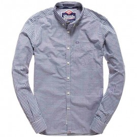 Chemise London Button Down Bleu Homme Superdry