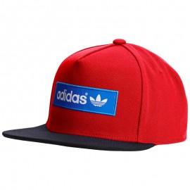 Casquette Trefoil Rouge Homme Adidas