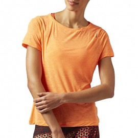 Tee shirt Light Slub Sport Orange fluo Femme Reebok