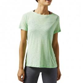 Tee shirt Light Slub Sport Vert Femme Reebok