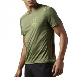 Tee shirt Entrainement Spartan Race Vert Homme Reebok