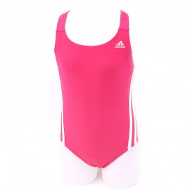 Maillot de Bain Infinitex 3 Stripes Rose Natation Fille Adidas