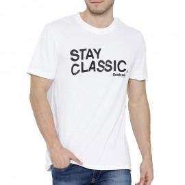Tee shirt Stay Classic Blanc Homme Reebok