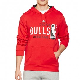 Sweat à Capuche Chicago Bulls Rouge Basketball Homme Adidas