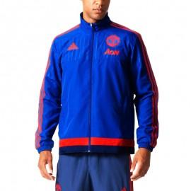 Veste Manchester United Bleu Football Homme Adidas