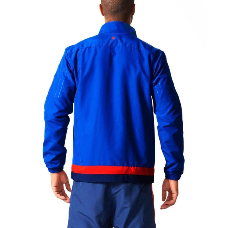 veste manchester united bleu football homme adidas. Black Bedroom Furniture Sets. Home Design Ideas