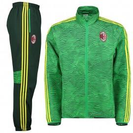 Survêtement AC Milan Vert Football Homme Adidas