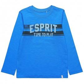 Tee Shirt Time To Play Bleu Garçon Esprit