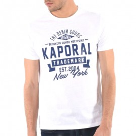 Tee Shirt Man Knitted Blanc Homme Kaporal