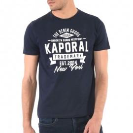 Tee Shirt Man Knitted Bleu Homme Kaporal