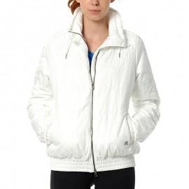 Doudoune 3 Stripes Blanc Femme Adidas