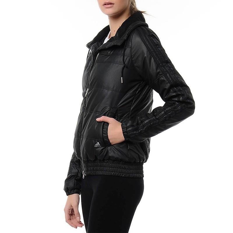 8244d8c6656 Doudoune 3 Stripes Noir Femme Adidas