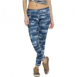 Collant 3/4 Bleu Basics Running Femme Adidas