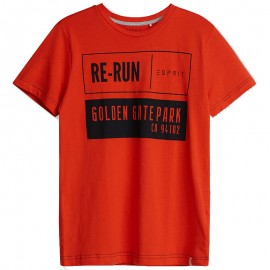 Tee Shirt Re-run Orange Garçon Esprit