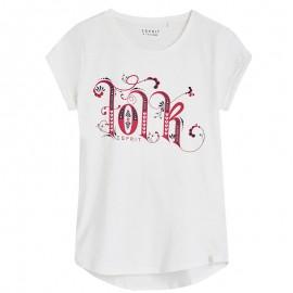 Tee Shirt Charlotte Ecru Fille Esprit