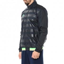 Veste Coupe-vent Gris Football Homme Adidas