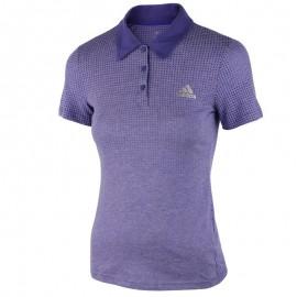 Polo Aerok Violet Tennis Femme Adidas