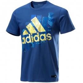 Tee-shirt  Super Smash Bleu Homme Adidas