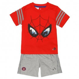 Ensemble Spiderman Rouge Garçon Adidas