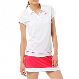 Polo Galaxy Tennis Blanc Femme Adidas