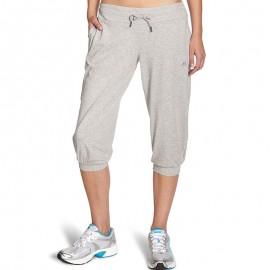 Pantalon 3/4 Gris Entrainement Femme Adidas