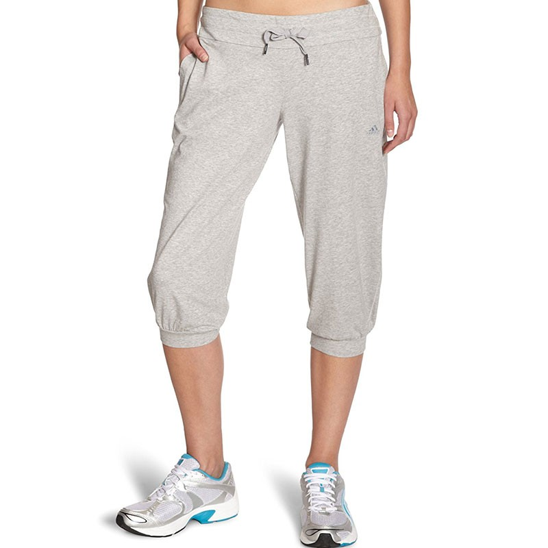 Pantalon-3-4-Gris-Entrainement-Femme-Adidas