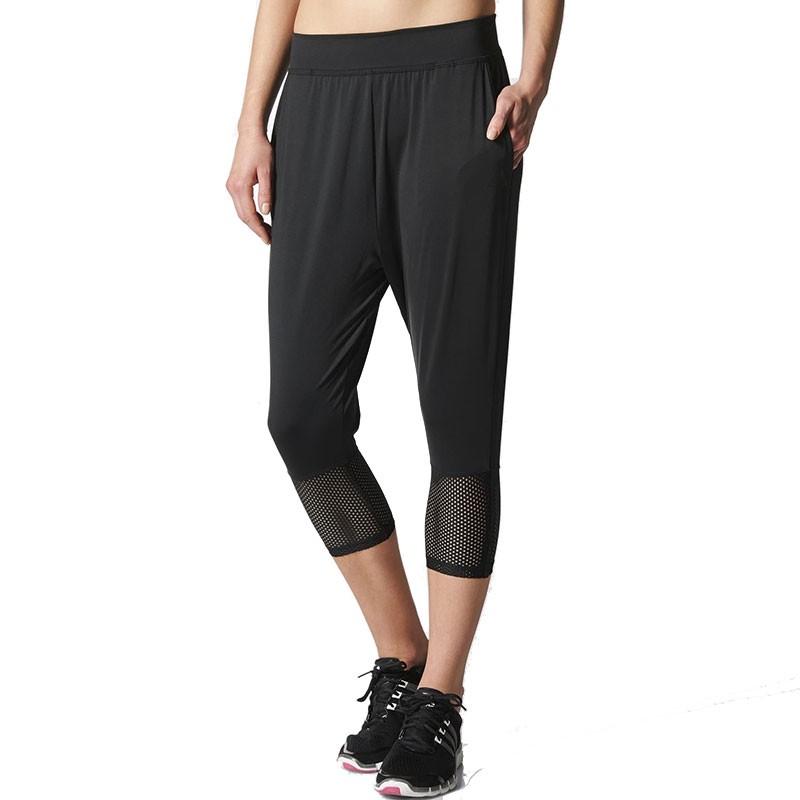 Pantalon 34 Entrainement Noir Femme Adidas