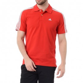 Polo Entrainement Rouge Homme Adidas