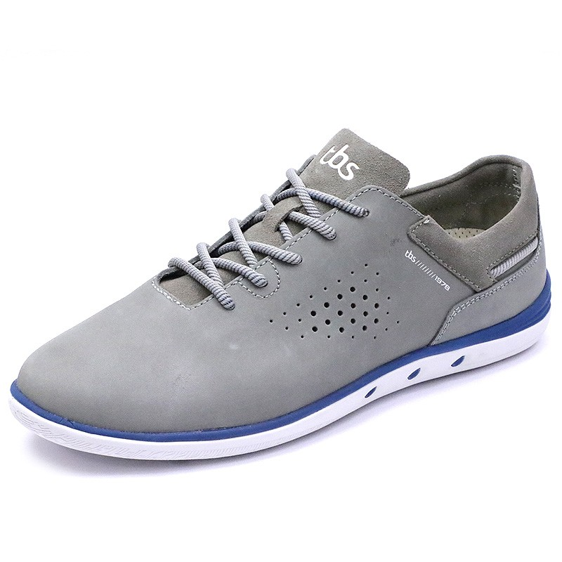 Gris Tbs Chaussures Cuir Mahani Homme TJFK1lc