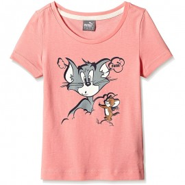 Tee-shirt Tom&Jerry Rose Fille Puma